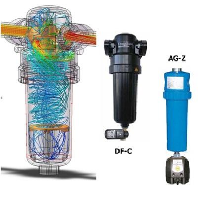 Bộ lọc bụi/dầu tách nước (kiểu cyclon)